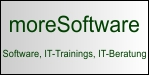 moreSoftware - Passwort-Manager moreSafe, Outlook AddIn moreRemind, Webinars, IT-Trainings, IT-Consulting